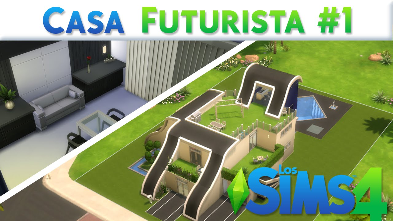 Los sims 4 casa futurista 1 youtube for Sims 4 piani di casa