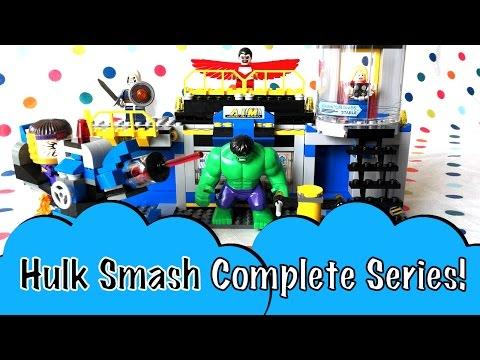Complete LEGO Marvel Superheroes Avengers Hulk Lab Smash Building Toy Hulk Thor Taskmaster MODOK