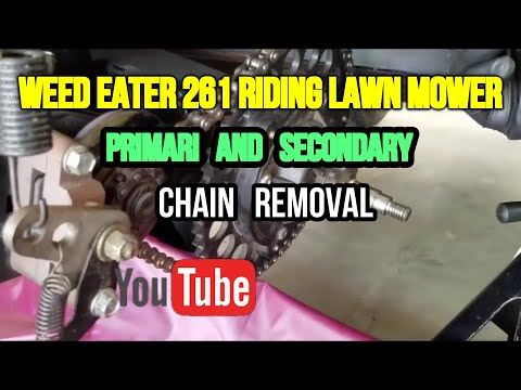 Weed Eater One Riding Lawn Mower Chain Removal (Tutorial)