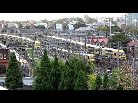 Sydney Trains Central Station Rush Hour 2017 REALTIME