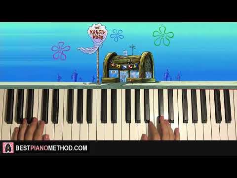 HOW TO PLAY - Spongebob - Krusty Krab Theme (Piano Tutorial Lesson)