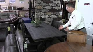 Sanford dining room set, tables, chairs, bench seat, Hudson's Furniture Orlando