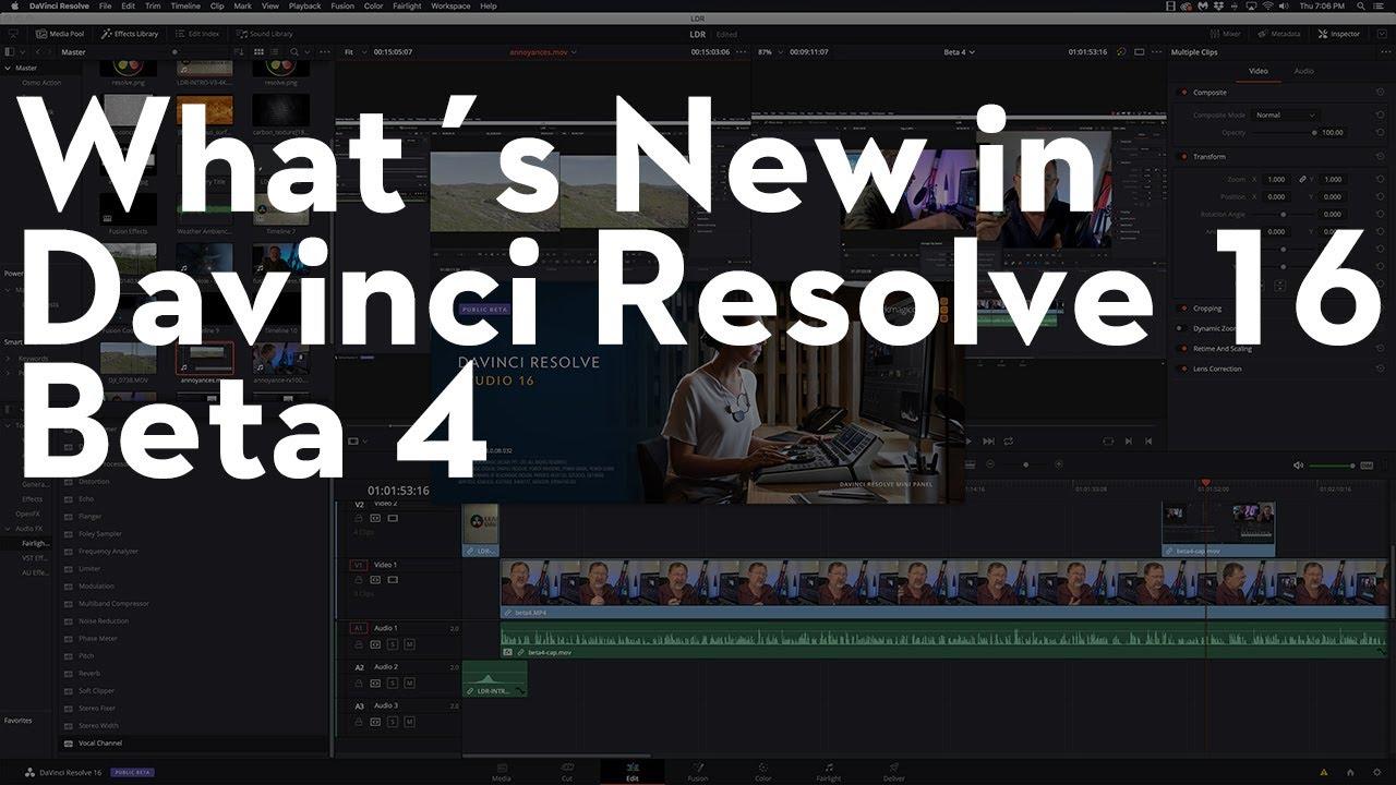 What's New in Davinci Resolve 16 Beta 4 - Kerry Garrison