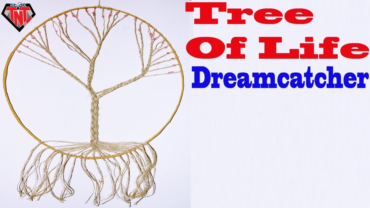 DIY How To Make Tree of Life Dreamcatcher - YouTube