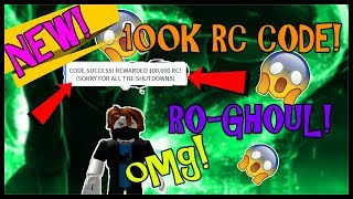 [NOUVEAU CODE] 100 000 CELLULES RC ! REDEEM Dès que possible! RO-GHOUL - FRANCE Roblox