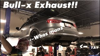 installing 4 000 bull x exhaust audi a3 s3 rs3 dyno