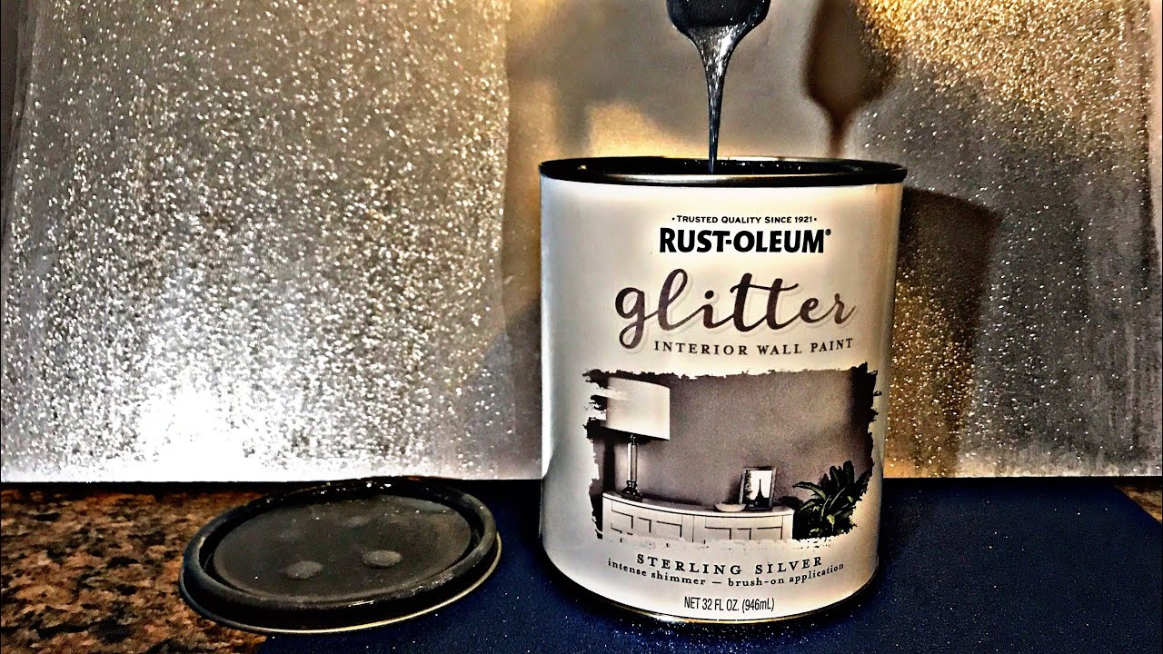 Sterling silver glitter rustoleum paint youtube for How to make silver paint