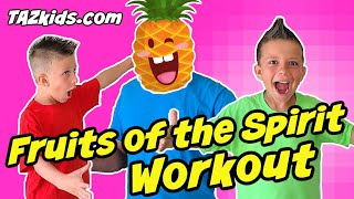 Bible Stories Workout For Kids   Fruits of the Spirit Exercise and Song!