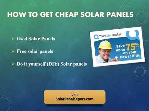 Cheap Solar Panels For Your Home – Go Green And Save Power Bill