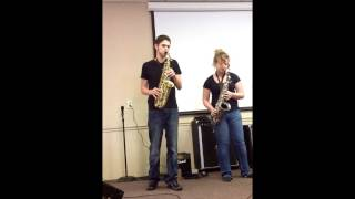 I Surrender All ~ Saxophone Duet with Piano Accompaniment