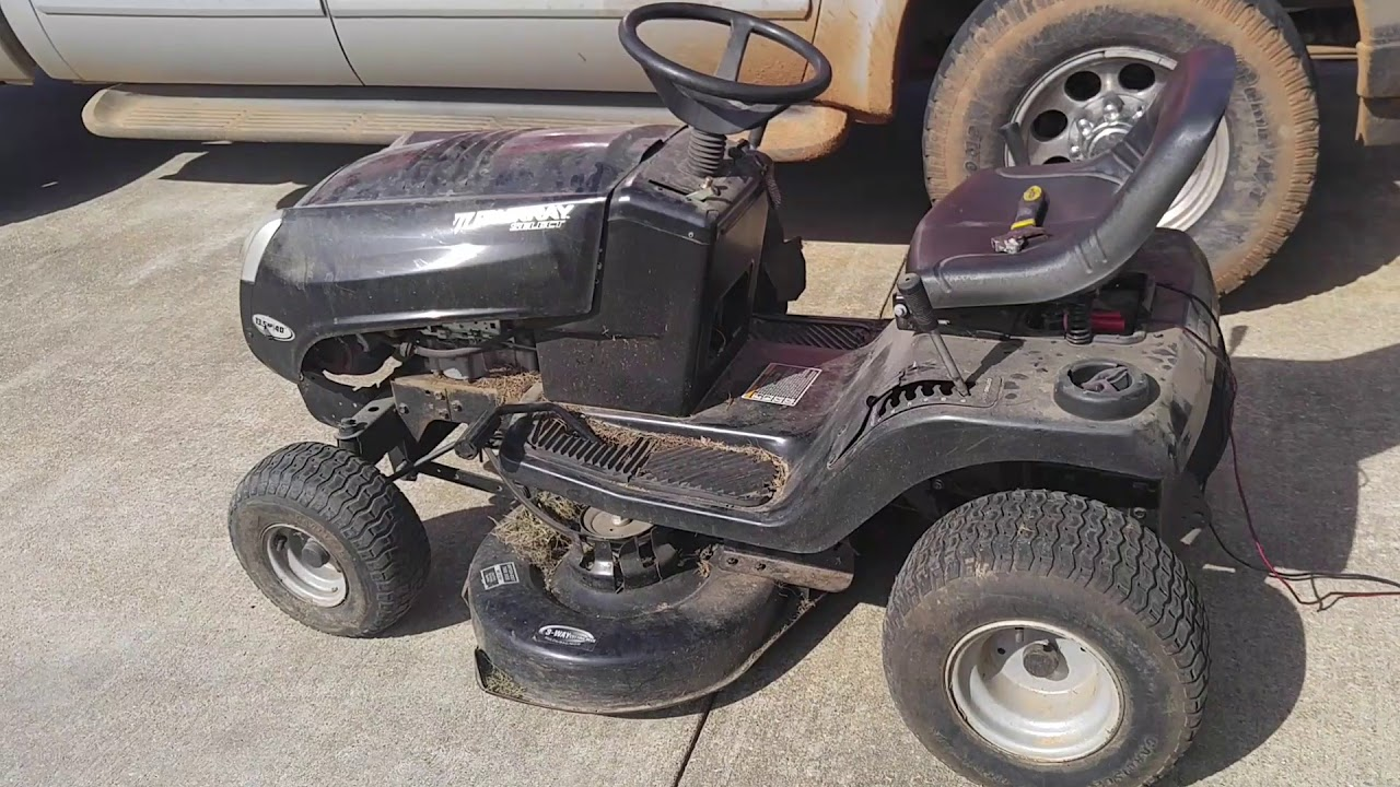 murray riding lawn mower ignition switch wiring diagram msd 7al 2 crank a with bad starter solenoid youtube