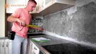 видео фартуки стеклянные для кухни