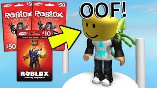 IF I DIE, YOU WIN ROBUX! (Roblox)