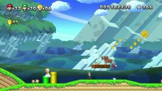 New Super Mario Bros. U: 3 Players Gameplay (World 1)