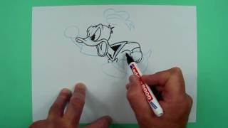 Wie zeichnet man Donald Duck?  ? Zeichnen für Kinder