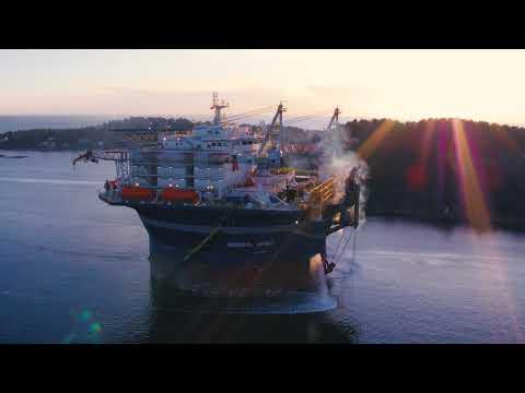 Arendal Spirit - Accommodation Unit arriving Arendal December 2017