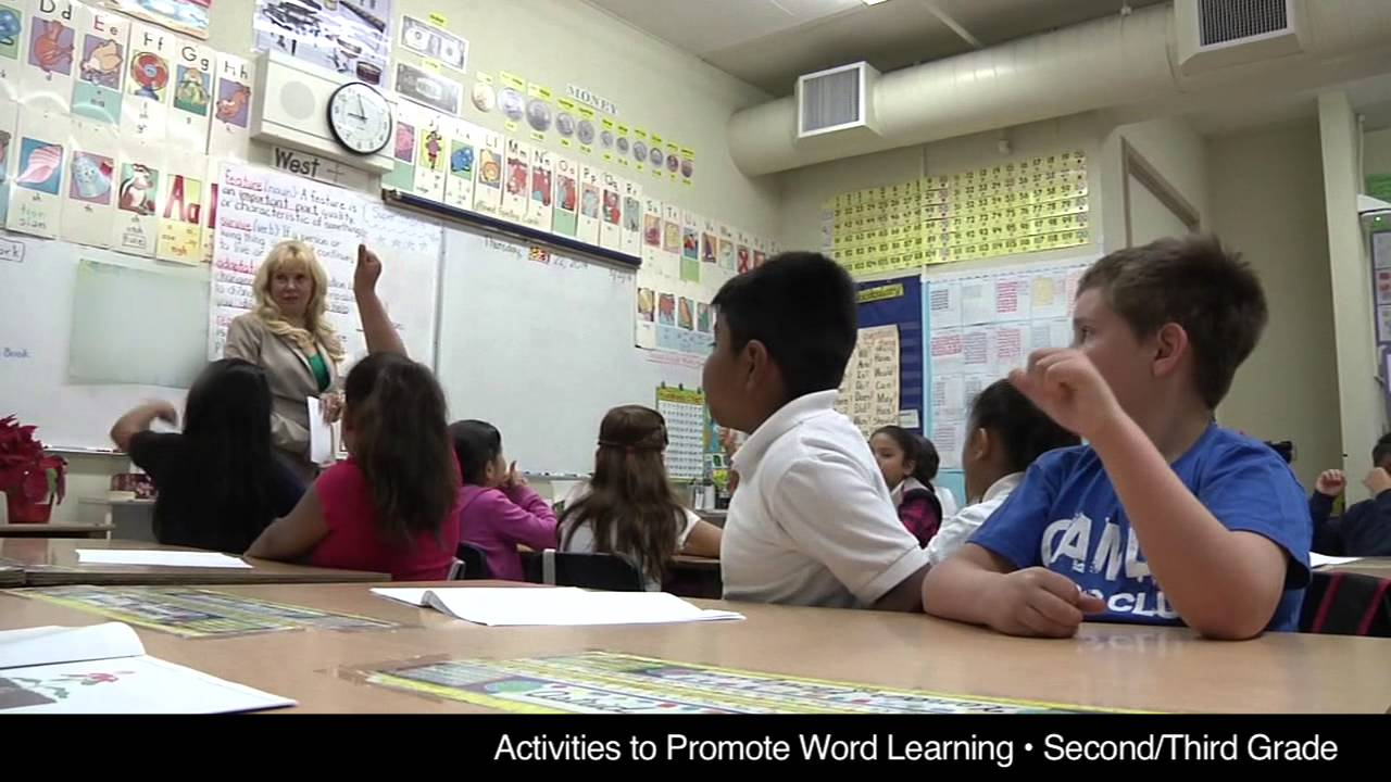 activities to promote word learning second third grade combination