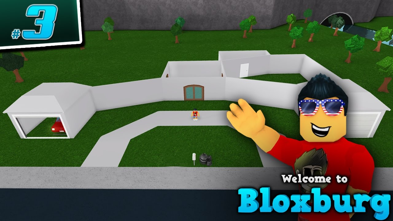 starting to build in welcome to bloxburg  - ep  3