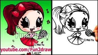 Ariana Grande - How to Draw People - Cartoon Drawing Tutorial