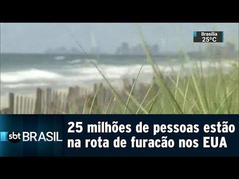 25 milhões de pessoas estão na rota do furacão Florence, nos EUA | SBT Brasil (12/09/18)
