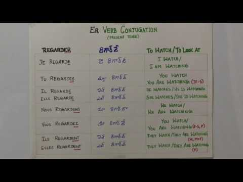 Learn French Through Telugu - ER Verb - Regarder - To Watch