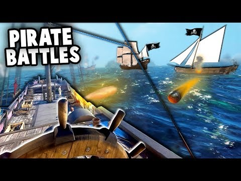 PIRATE SHIP vs ROYAL NAVY!  The BEST Worst Pirate Crew (BlackWake Gameplay - Sea of Thieves Hype!)
