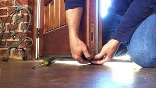 quick replacement of lower flush bolt on French door (double door)