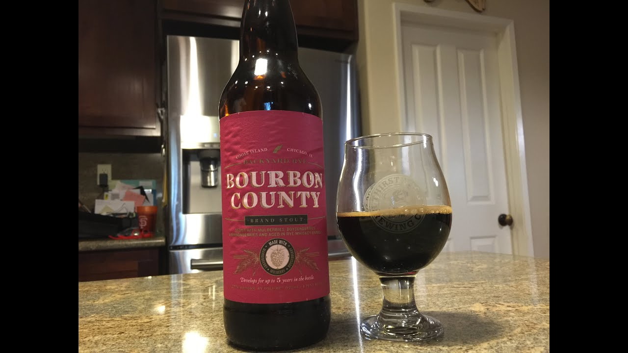 Bourbon County Backyard Rye beer review #136 - goose island - bourbon county backyard rye - 12.7