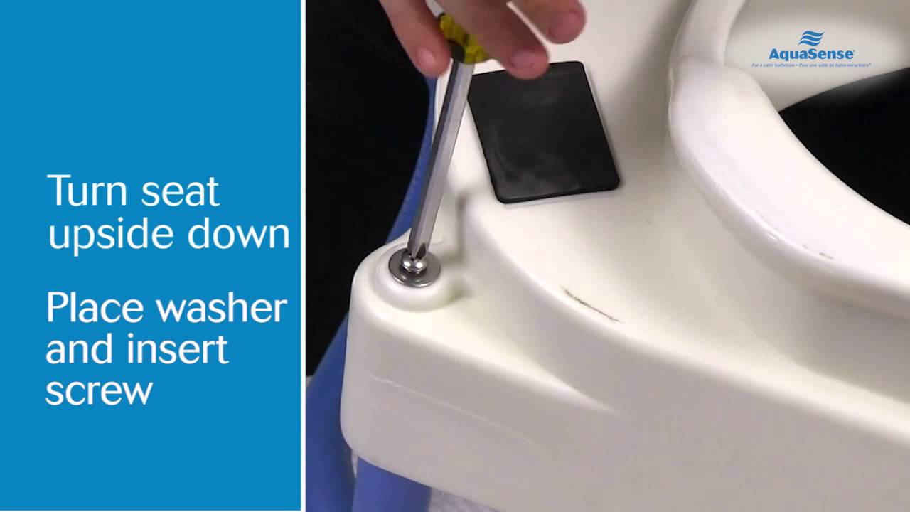 How to Assemble Your AquaSense 3 in 1 Raised Toilet Seat - YouTube