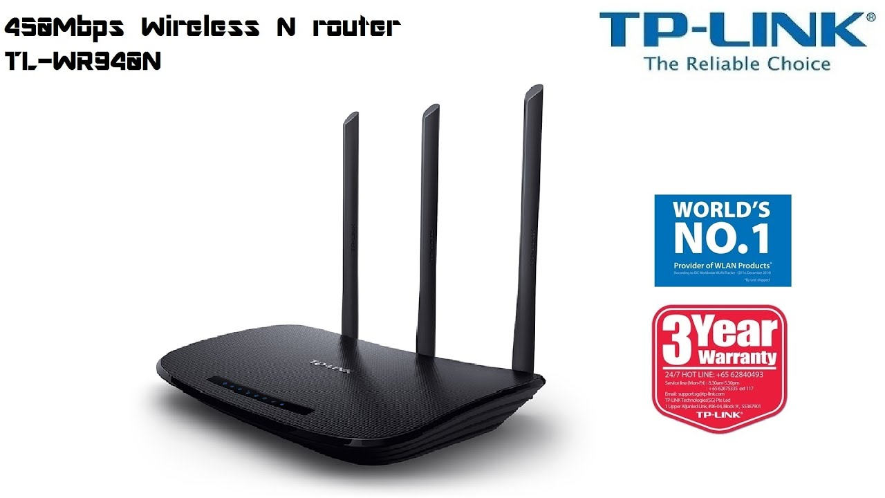 Tp Link 450mbps Wireless N Router Tl Wr940n Youtube