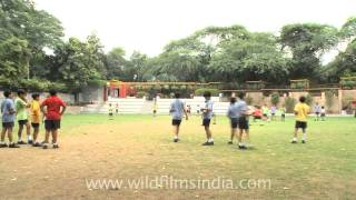 Children on the front field, The Shri Ram School