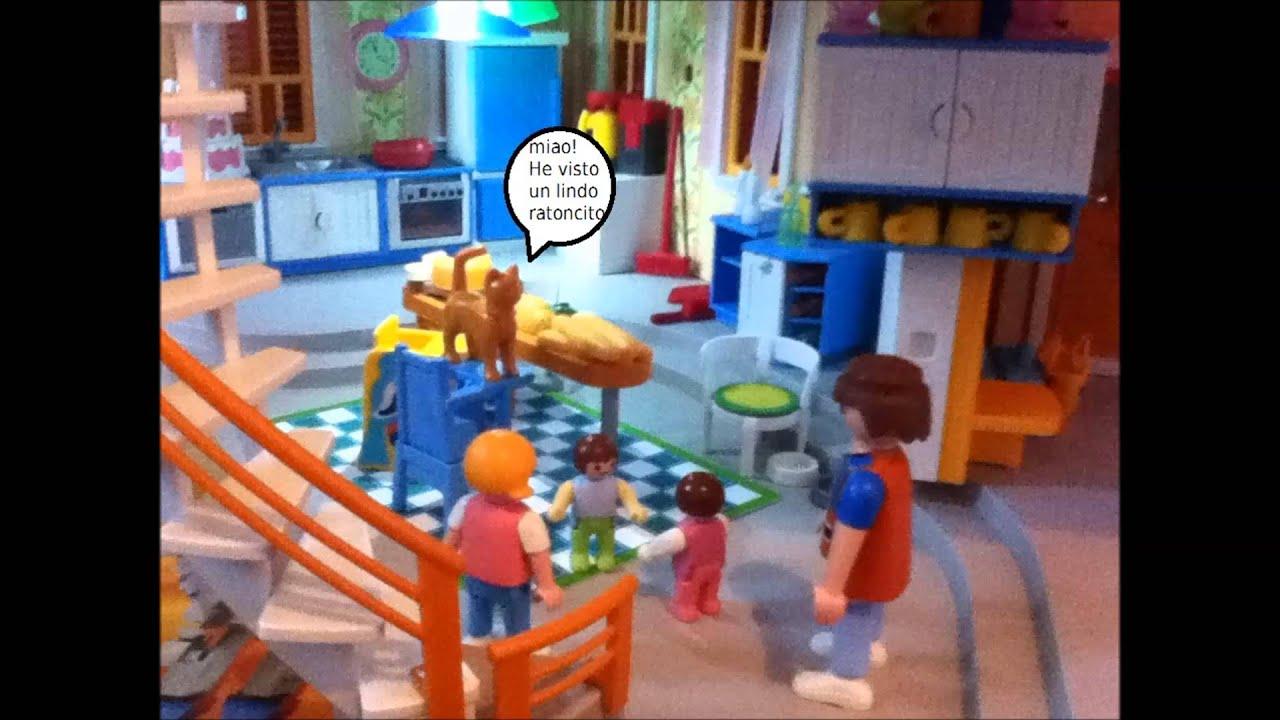 Peluxilla en la casa de los playmobil youtube for La casa de playmobil