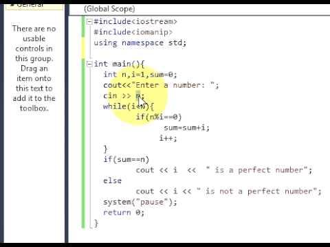 Program: Write a program to find perfect number or not.