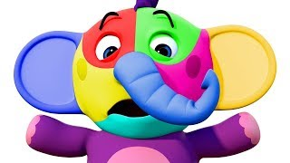 Elephant Face Painting | NEW | Education Videos & Nursery Rhymes By All Babies Channel