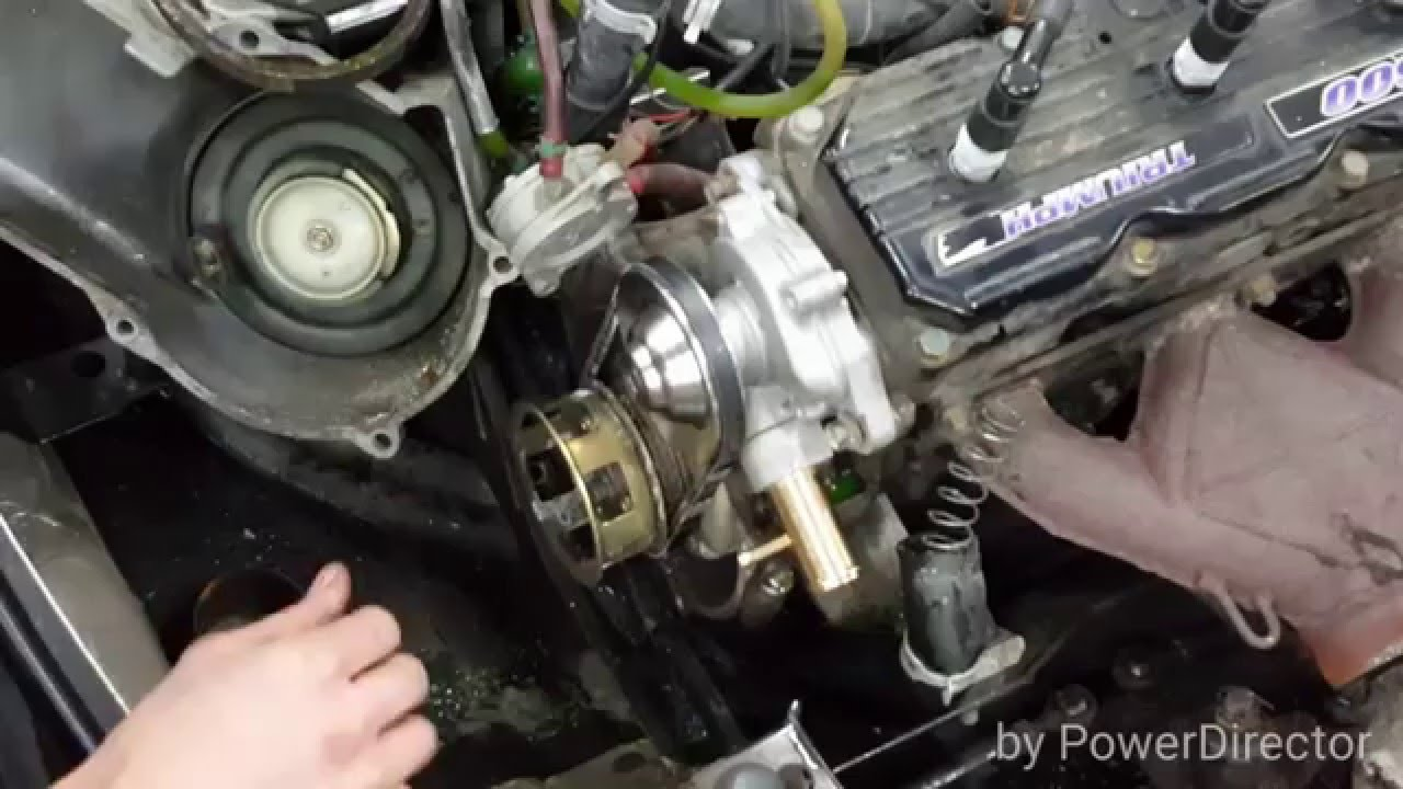 how to replace polaris xlt water pump and belt xcr 600 580 [ 1280 x 720 Pixel ]