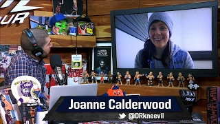 Joanne Calderwood Fueled by Cynthia Calvillo's 'Smirk' at Summer Kickoff Staredown