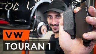 Kuidas ja millal vahetada eesmine ja tagumine Piduriklotsid VW TOURAN (1T3): videoõpetus