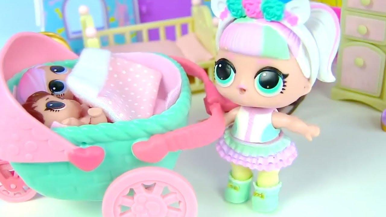Куклы Лол Сюрприз! Весенняя прогулка с малышами! Мультик Lol Surprise Dolls Видео для детей
