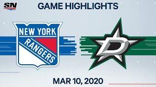 NHL Highlights   Rangers vs Stars – Mar. 10, 2020