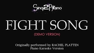 Fight Song Piano karaoke demo Rachel Platten