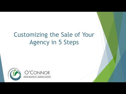 Customize the Sale of Your Agency in 5 Steps