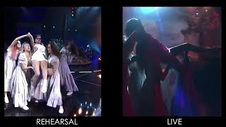 Selena gomez & marshmello deliver intense 'wolves' performance at the 2017 amas. here is side by with her rehearsal.