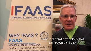 IFAAS Delegate Testimonial - Dr.  Bowen R. | United States