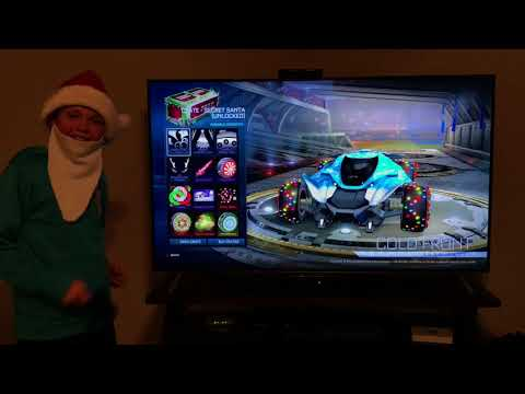 Christmas crate opening (rocket league) I got so lucky!!!