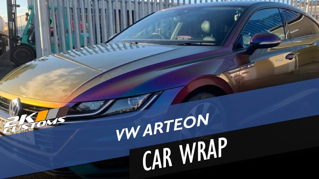 VW Arteon audi fully wrapped in Avery Gloss Lightning Ridge flip colour!