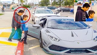 SURPRISING MY LITTLE BROTHER WITH A LAMBORGHINI!