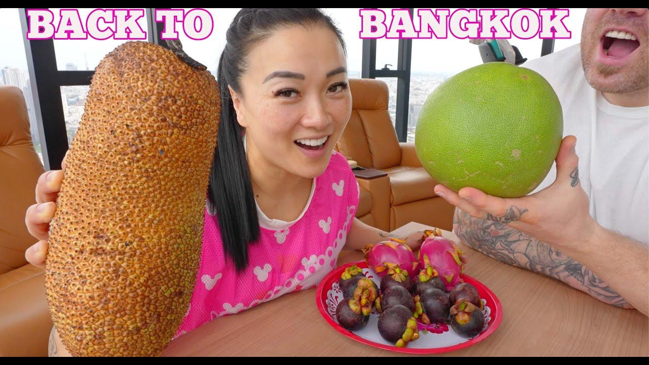 BACK TO BANGKOK (CASUAL FRUIT MUKBANG CHIT CHAT UPDATE) | SASVlogs