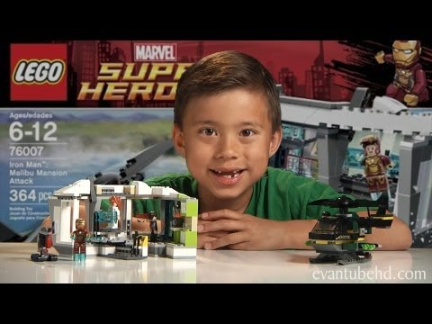 IRON MAN 3 MALIBU MANSION ATTACK - Lego Super Heroes Set 76007 Time-lapse Build, Review