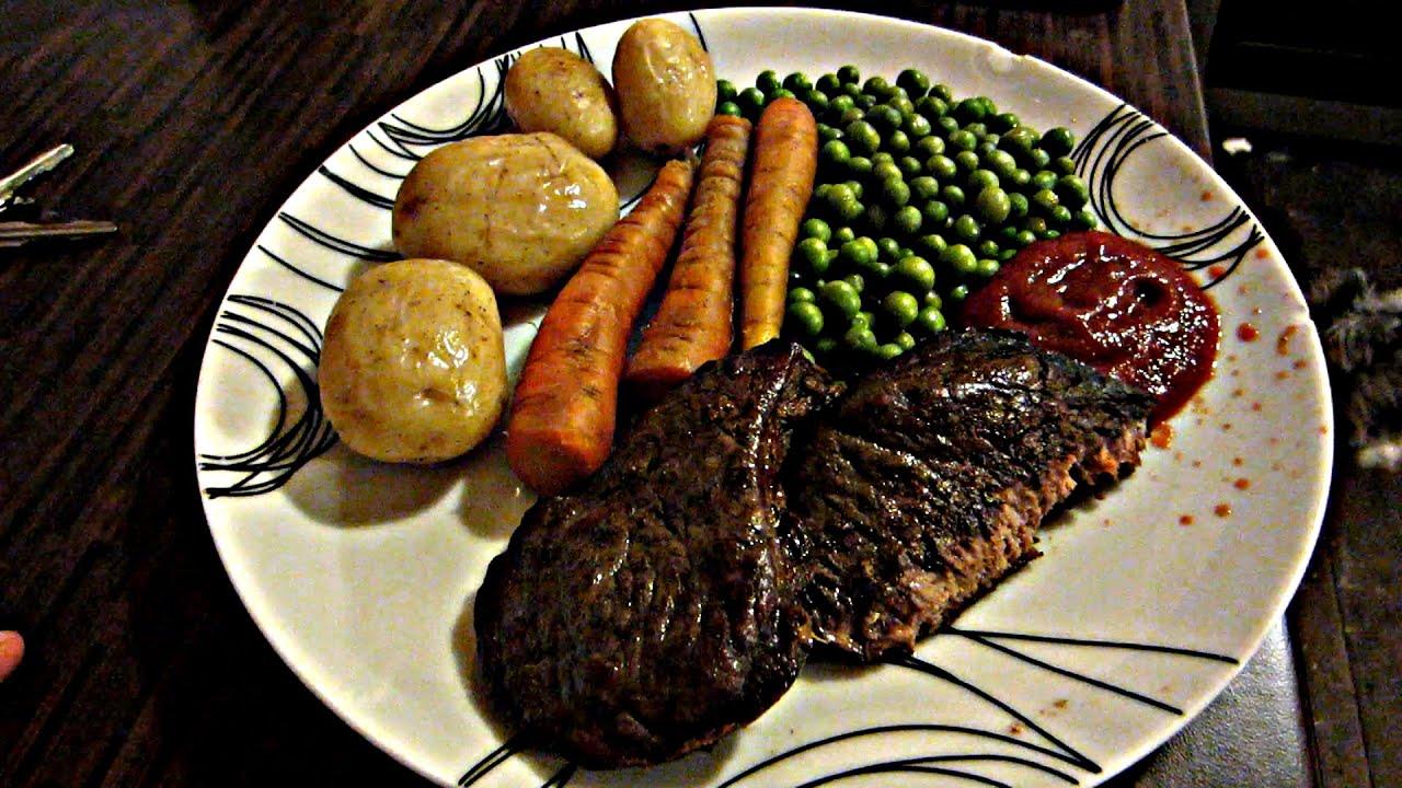 FANCY STEAK DINNER! - YouTube