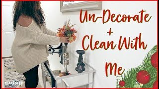 UNDECORATE WITH ME // GETTING THE HOUSE READY FOR CHRISTMAS DECOR!